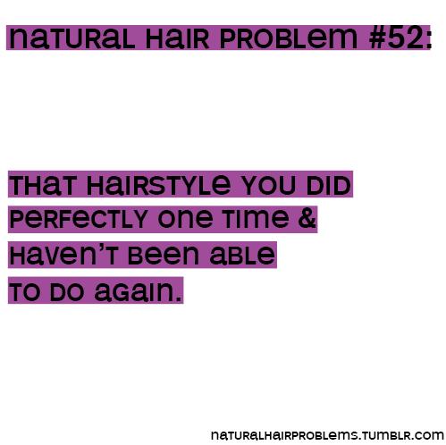 Natural Hair Problems sur Tumblr