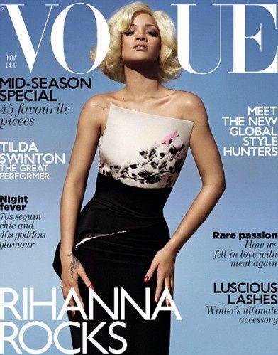 """La perruque """"Marilyn Monroe"""" de Rihanna pour Vogue UK"""