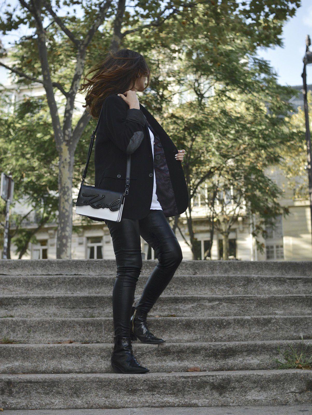 Blazer noir et T-shirt blanc 🖤✨