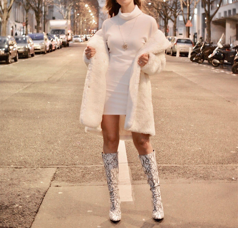Winter white dress