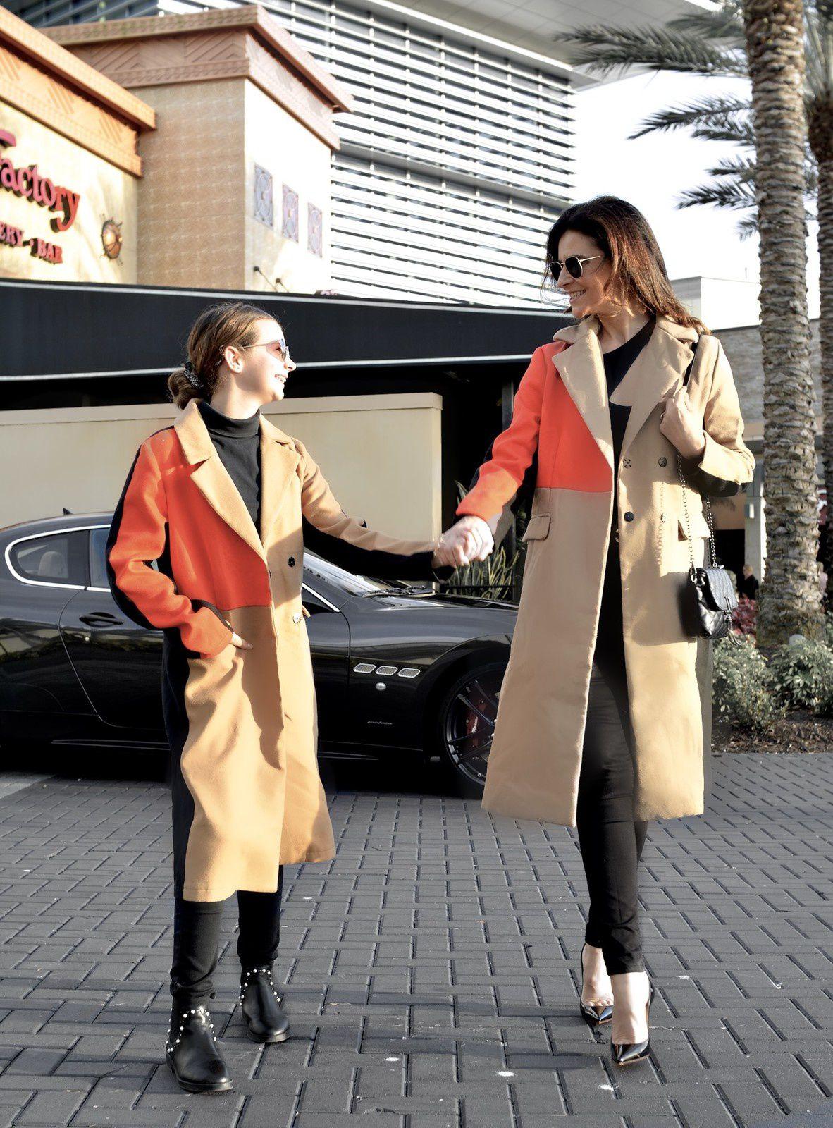 En manteau color block !