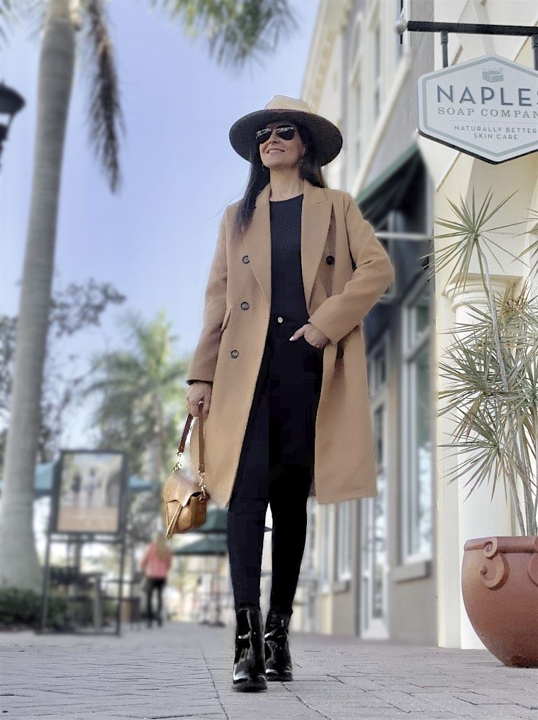 Casual Chic in Camel and Black