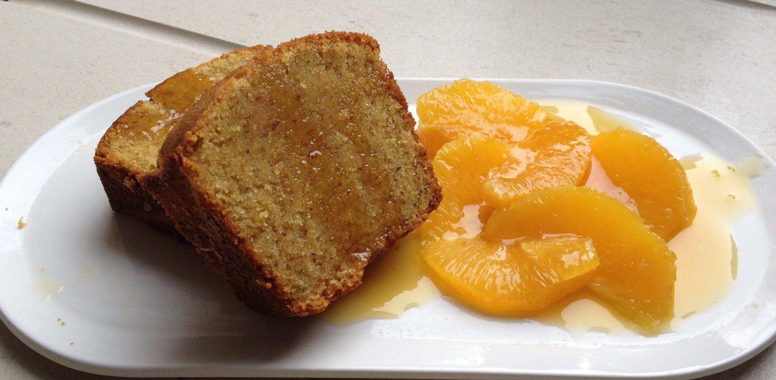 cake  à la polenta aux saveurs orientales miel/oranges