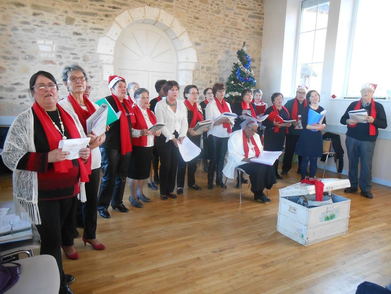 La chorale Chantons Ensemble en décembre dernier