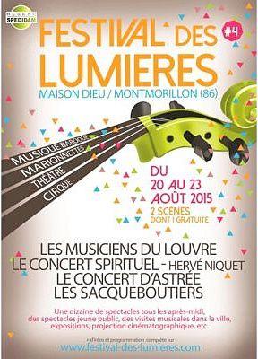 Festival des Lumières à Montmorillon du 21 au 23 août 2015