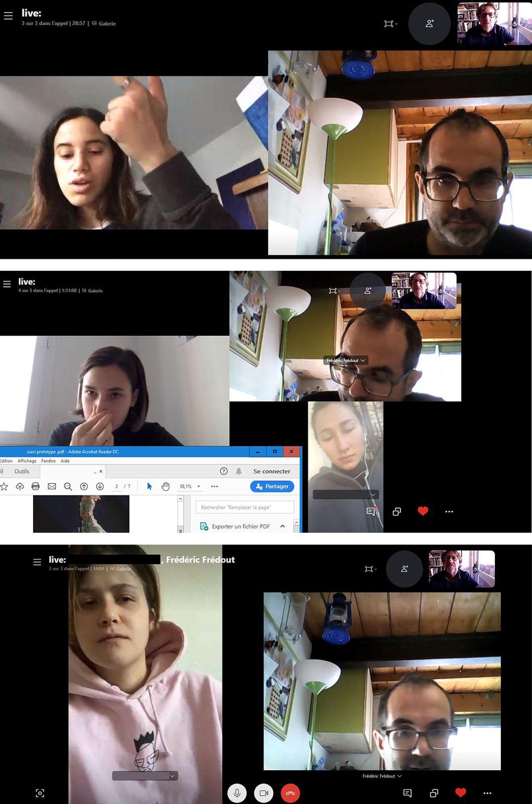 """En confinement """"espace"""" et """"temps"""" deviennent numériques, bidimensionnels, à distance, avec vidéo-réunions, mails, réseaux sociaux.."""
