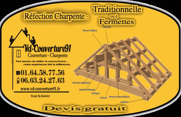 Rénovation charpente bois