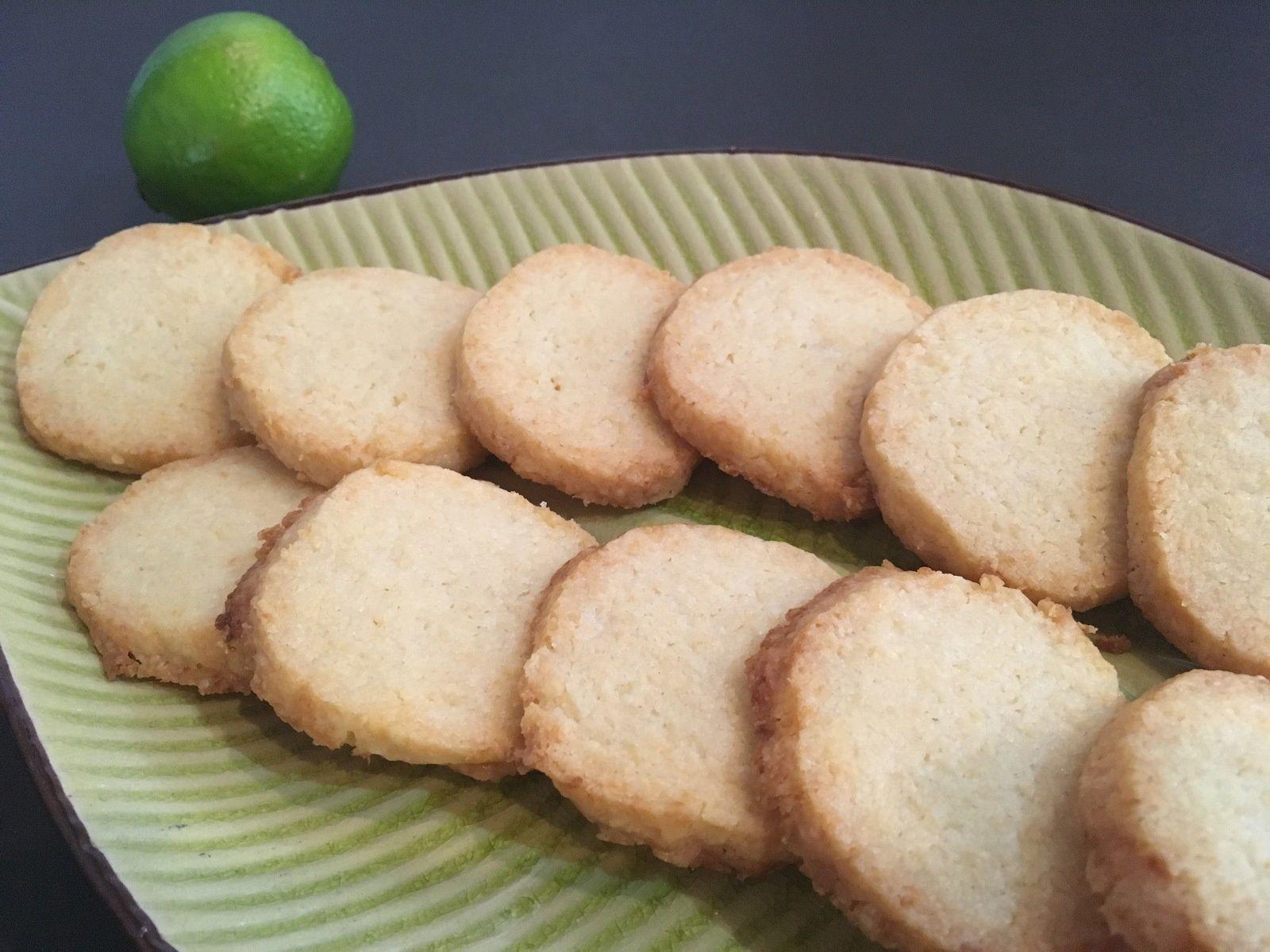 Sablés noix de coco et citron vert