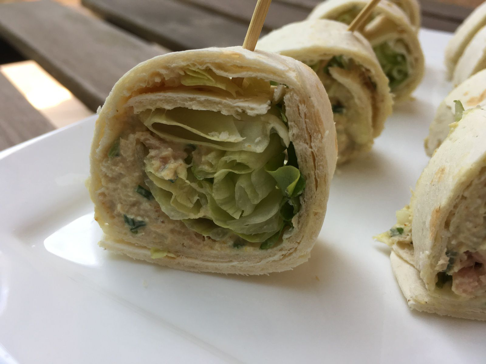 Wrap au thon et au curry