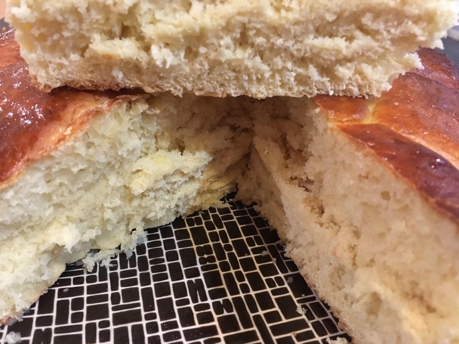 Brioche filante au fromage blanc