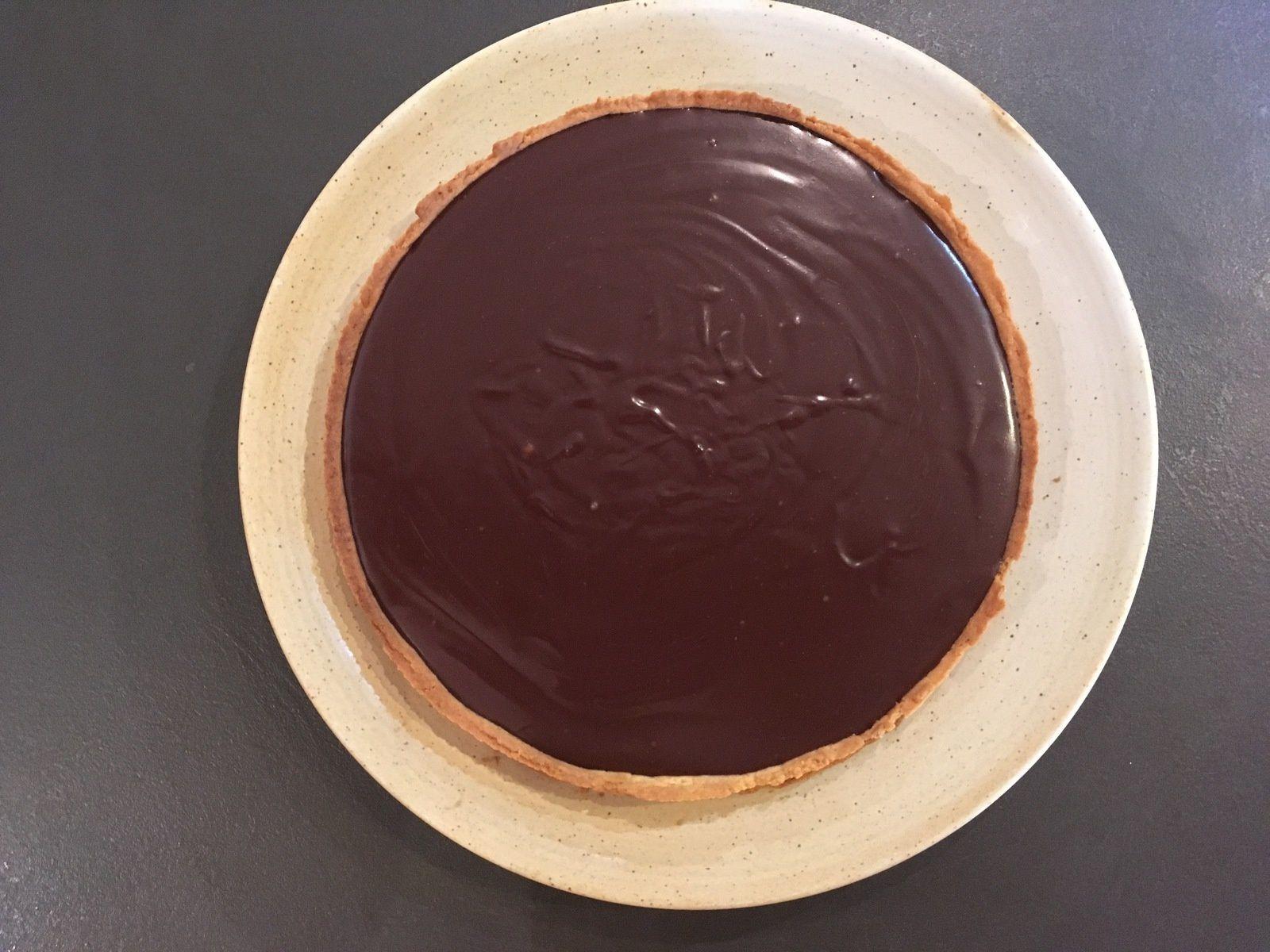 Tarte chocolat-caramel de Christophe Felder