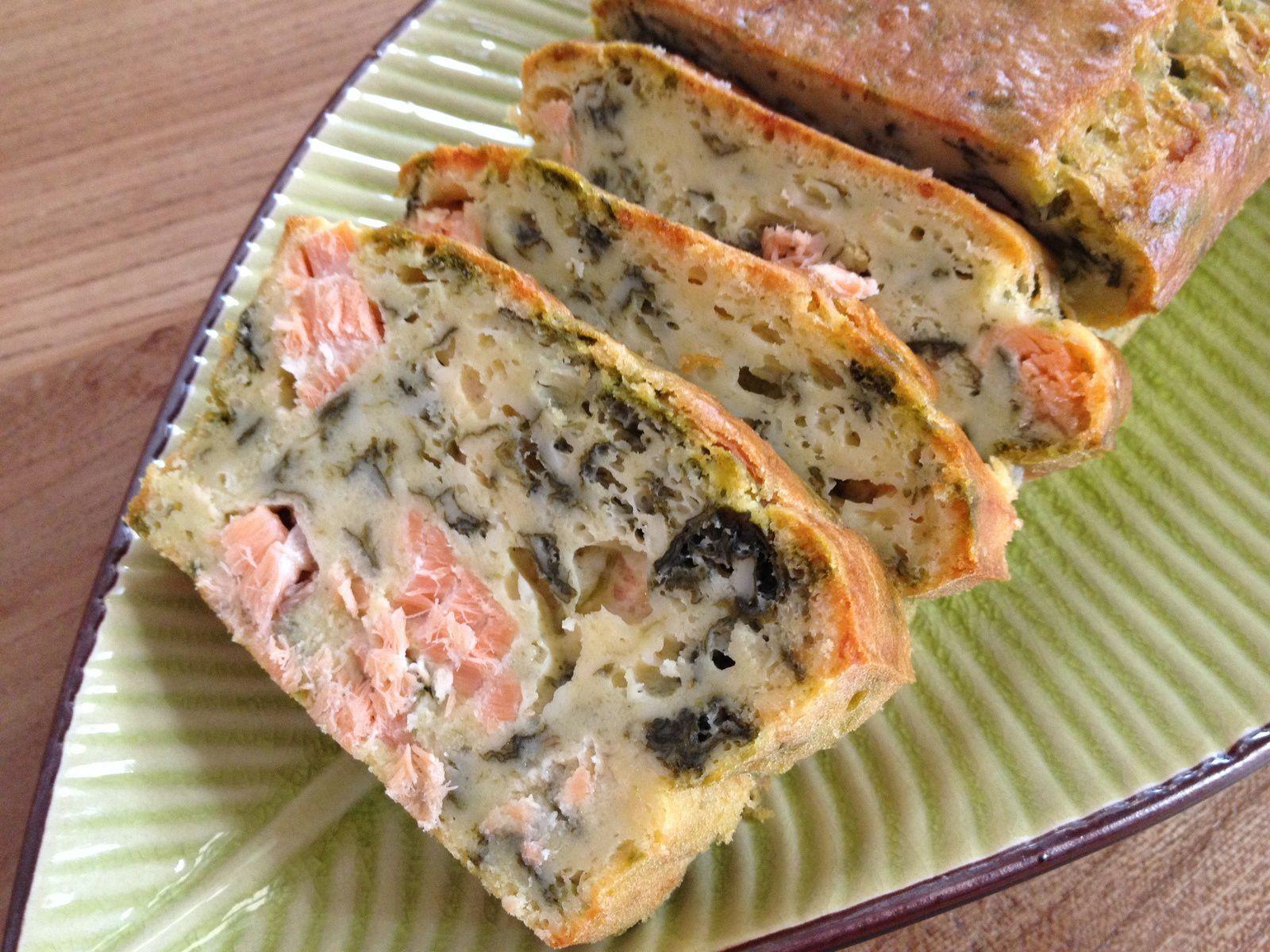 Cake au saumon et à l'oseille