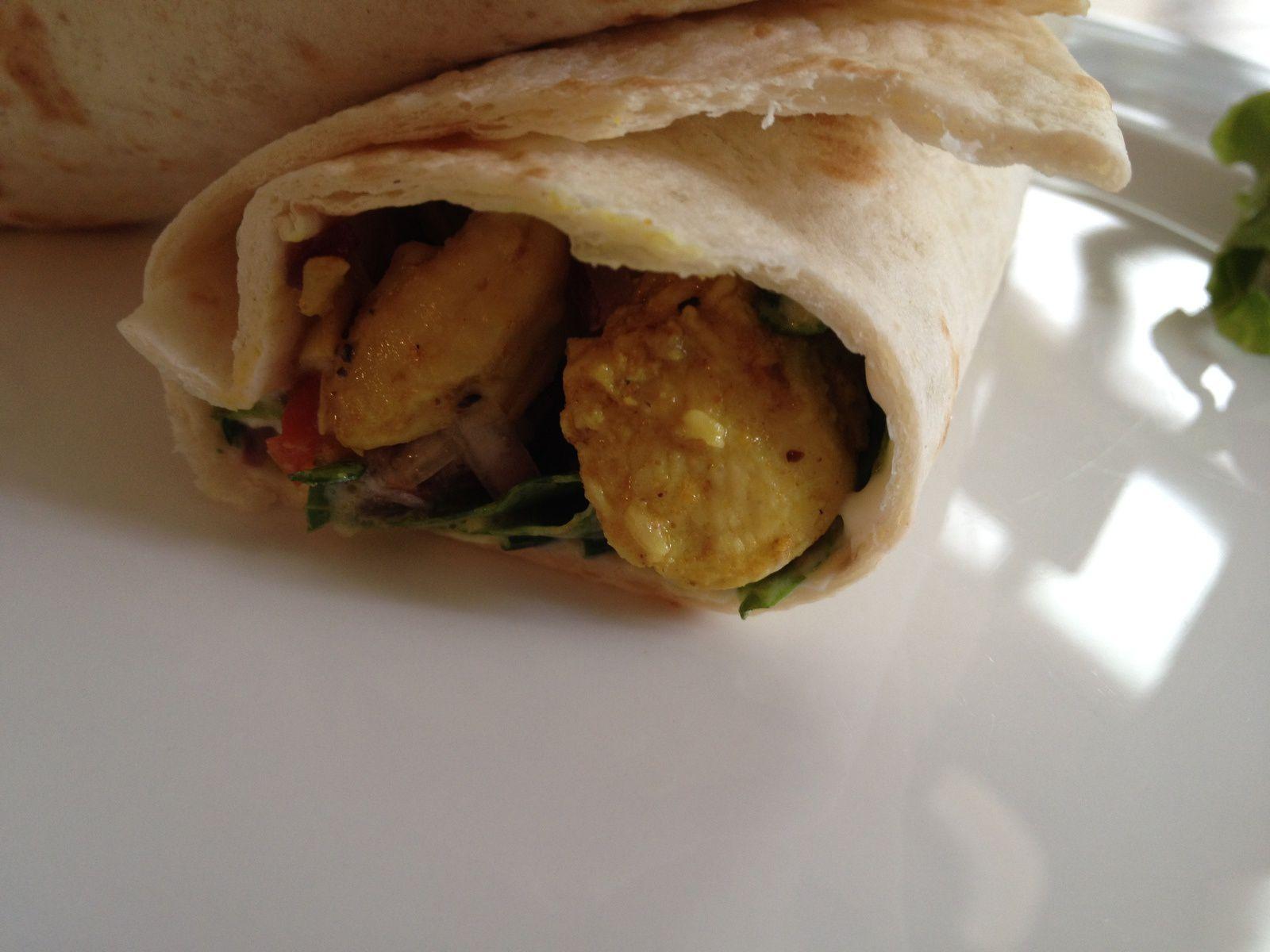 Wrap de poulet au curry