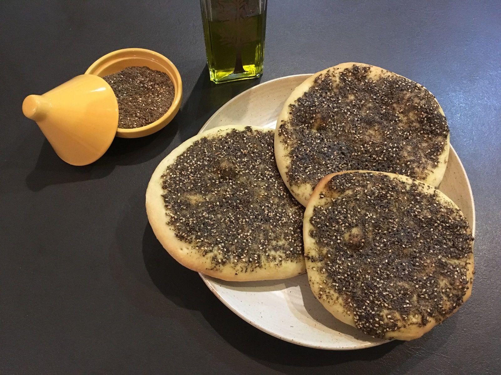 Man'ouché (pain libanais aux épices)