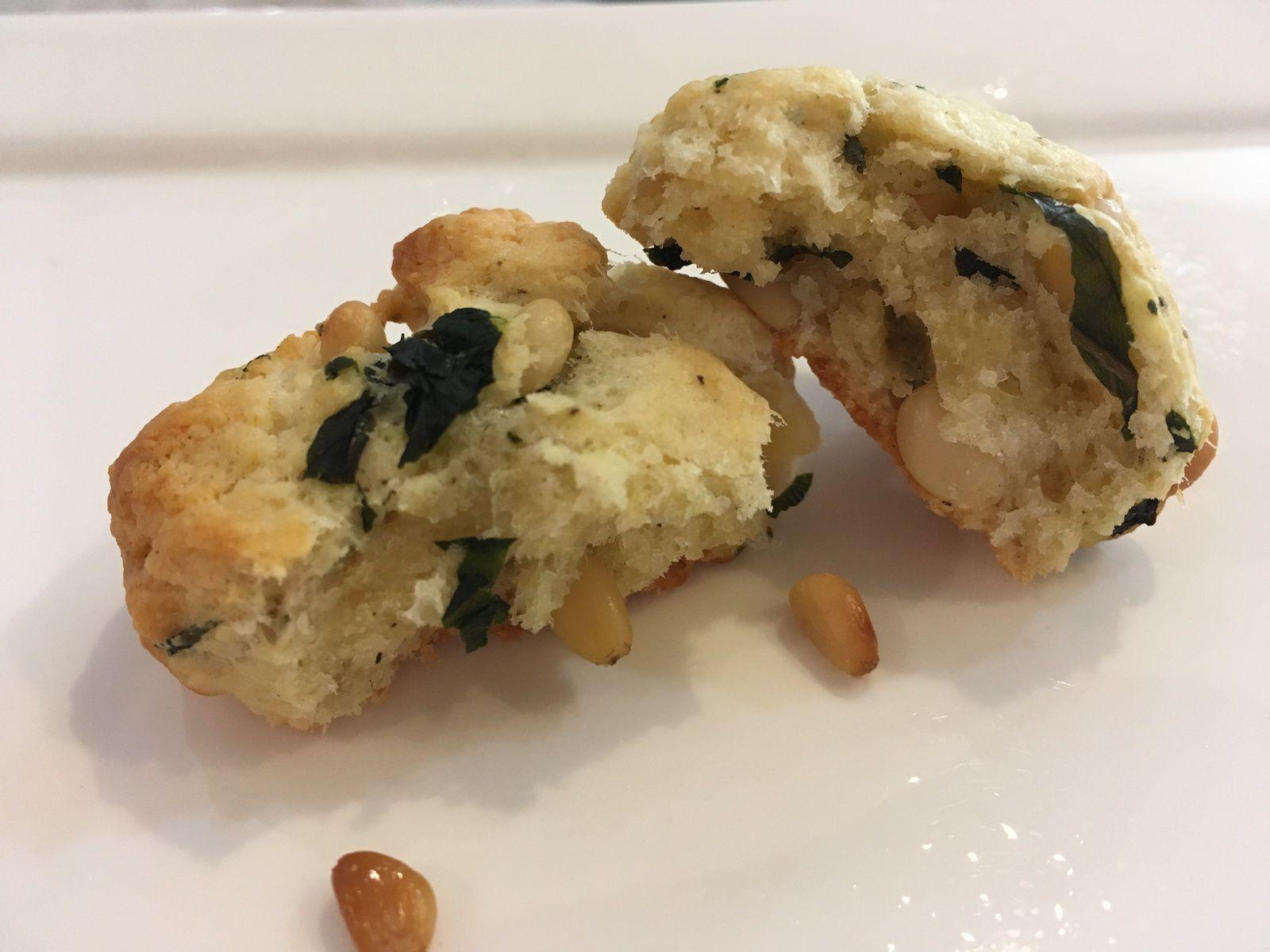Cookies salés parmesan et pignons de pin