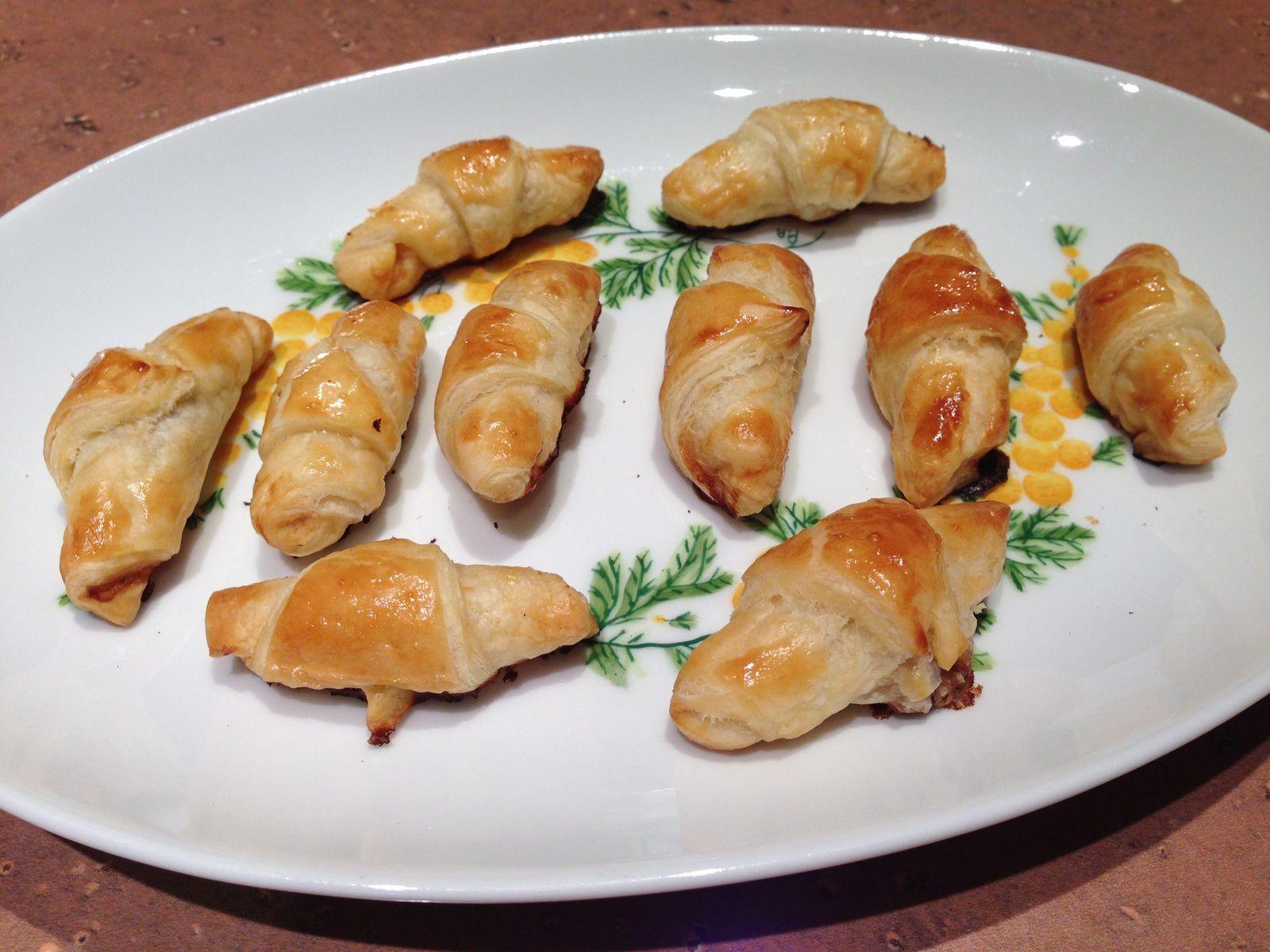 Mini croissants aux crevettes façon asiatique