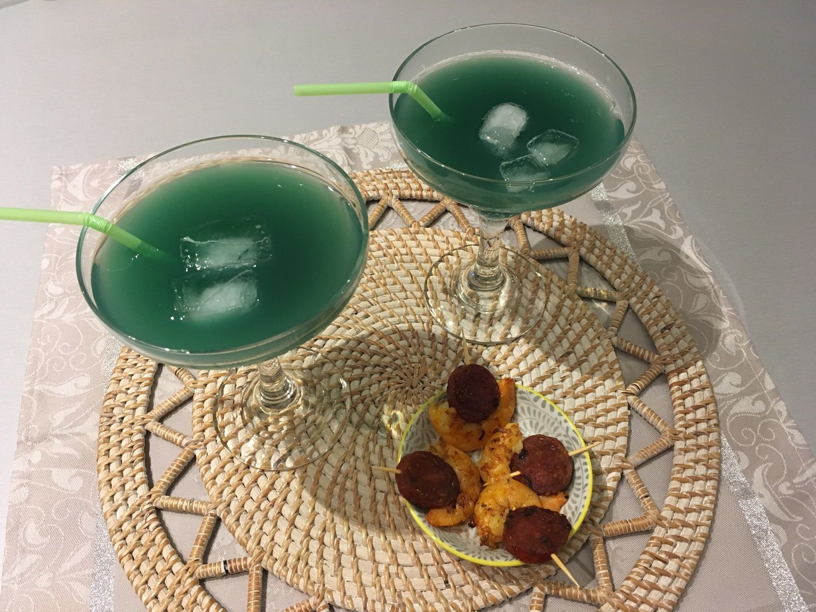Cocktail lagon turquoise