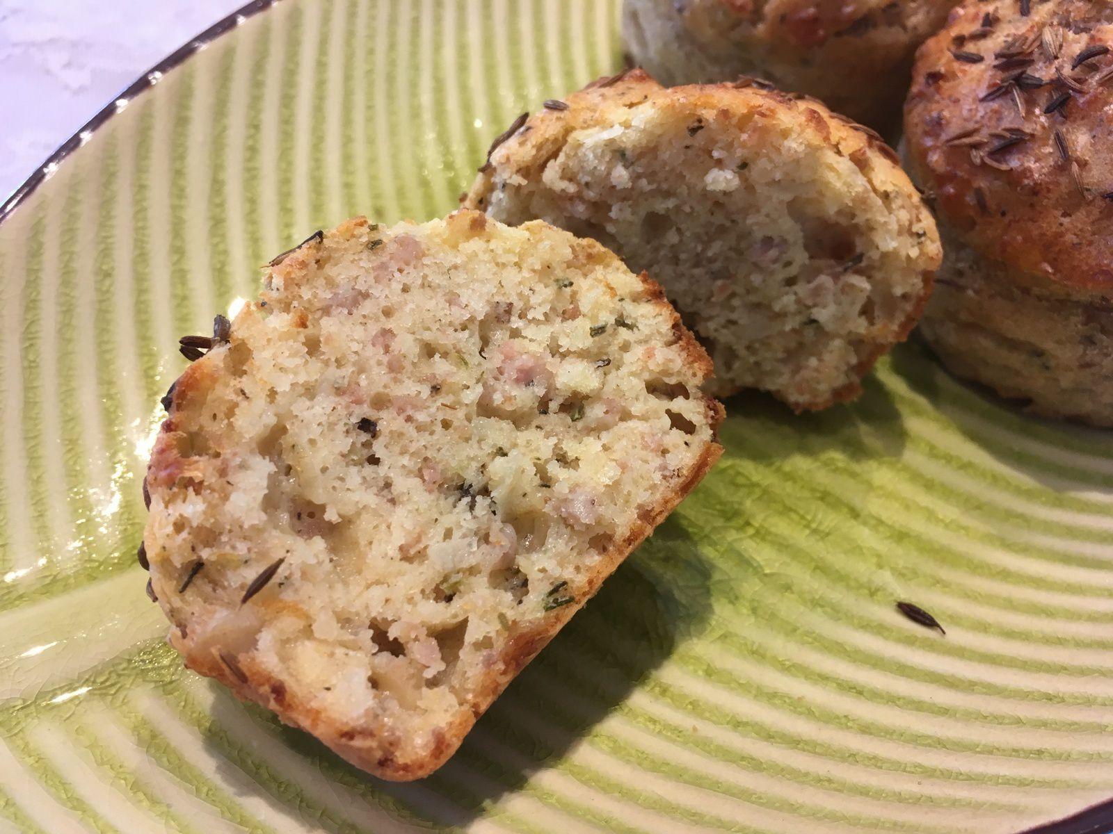 Muffins aux chipolatas et au cumin