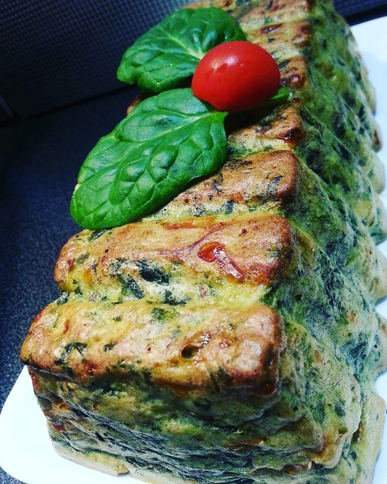 Pain de saumon et épinards