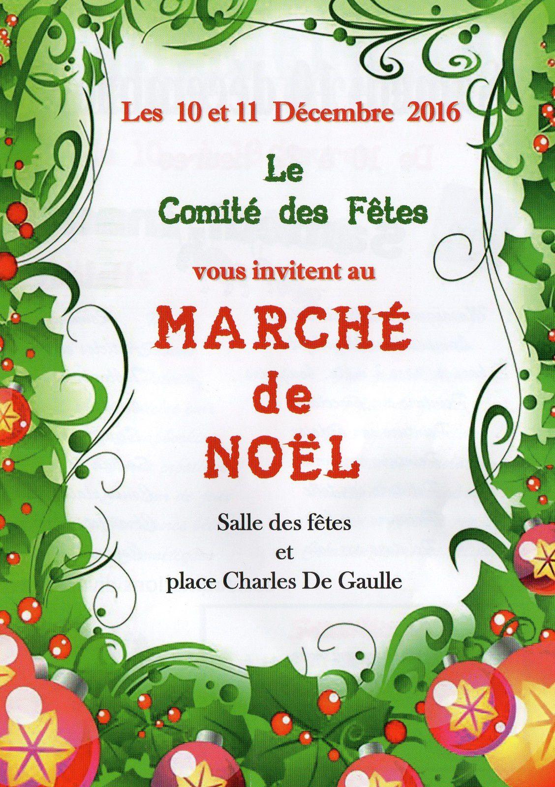 MARCHE DE NOEL                  10 et 11 DECEMBRE