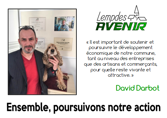 Portait d'un candidat : David Darbot