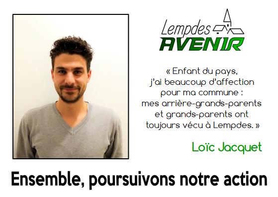 Portrait d'un candidat : Loic Jacquet