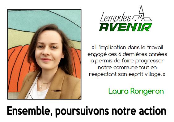 Portrait d'une candidate : Laura Rongeron