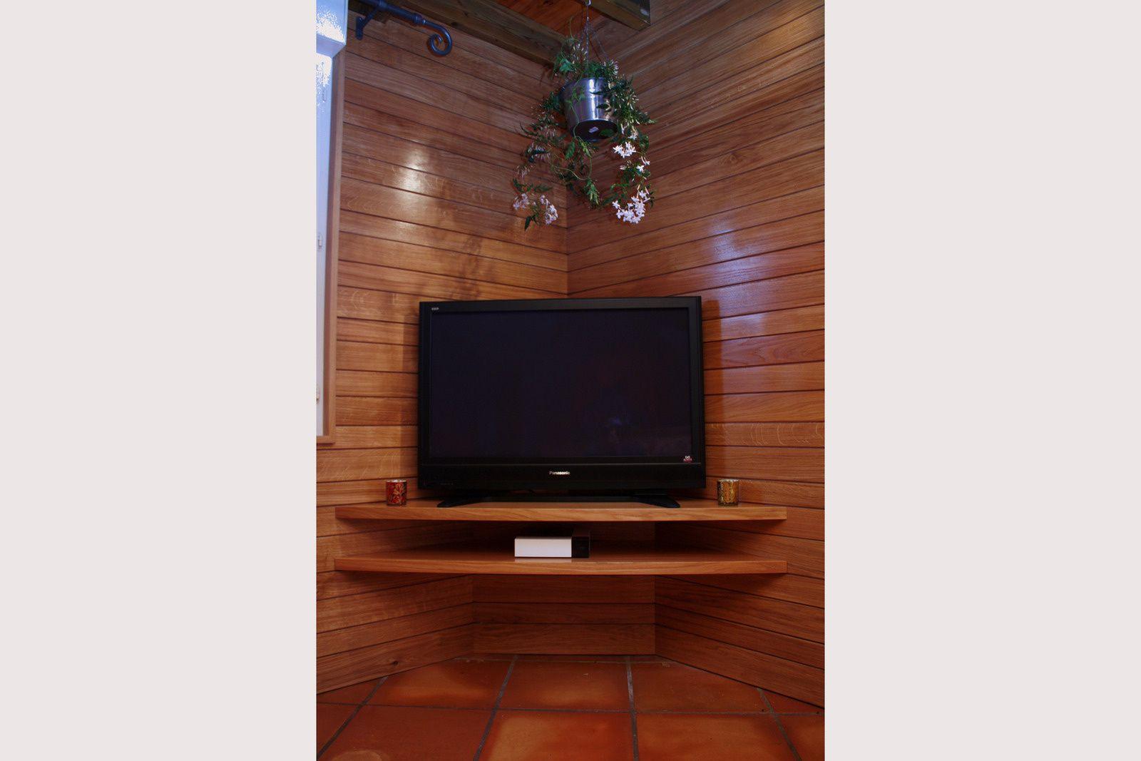Meuble Tv En Coin meubles tv - atelier bois création