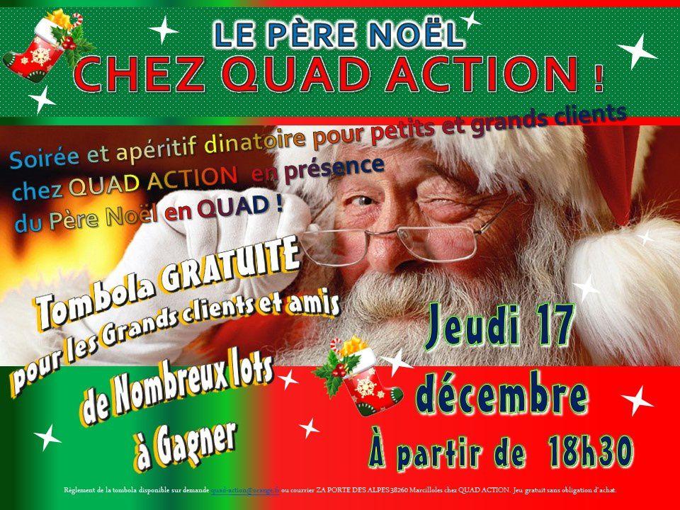 Père Noël Quad Action et tombola gratuite !