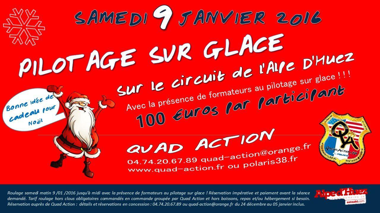 Alpe d'Huez circuit sur glace 09 janvier 2016