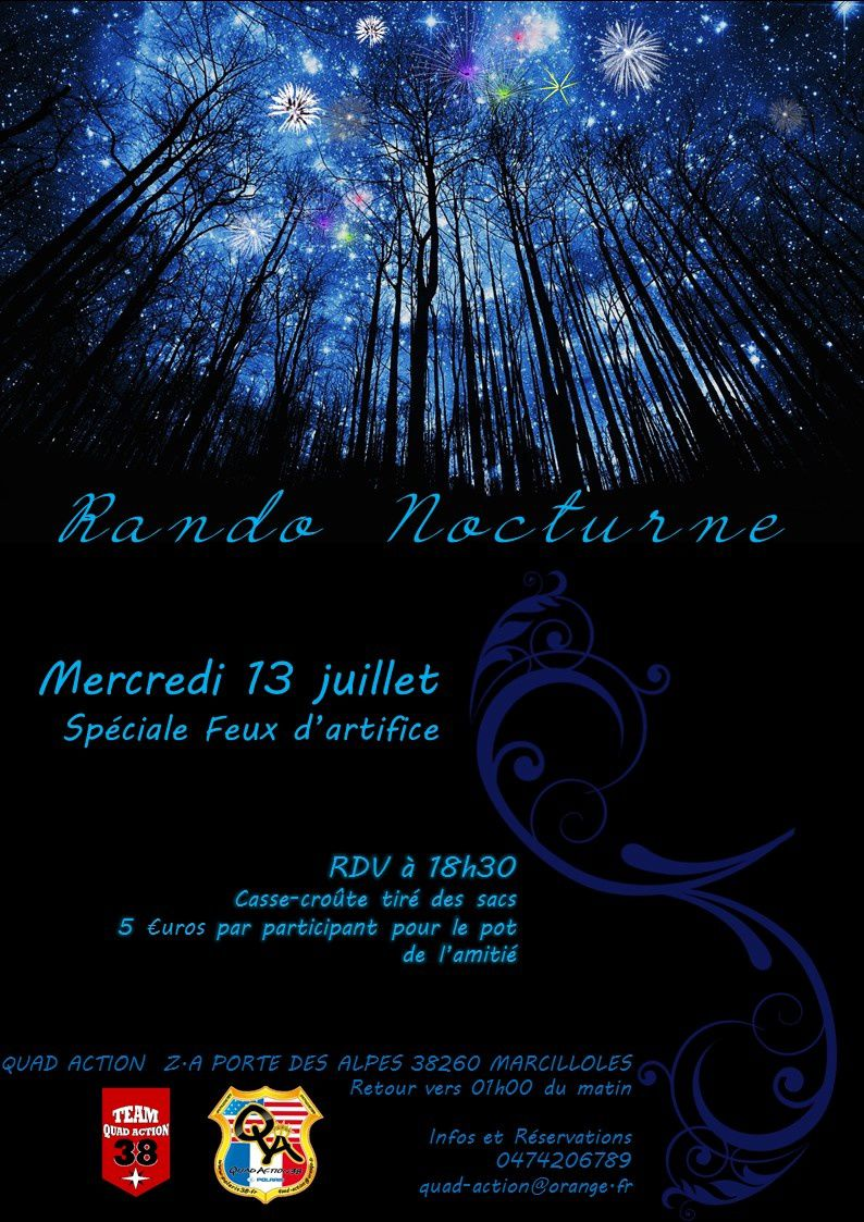 Rando nocturne 13 JUILLET