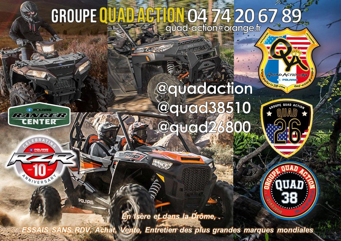 Quad26, quad38, quadaction Quad Action, polaris club, polaris france, polaris 2020, club polaris, kymco drome, kymco 26, polaris drome