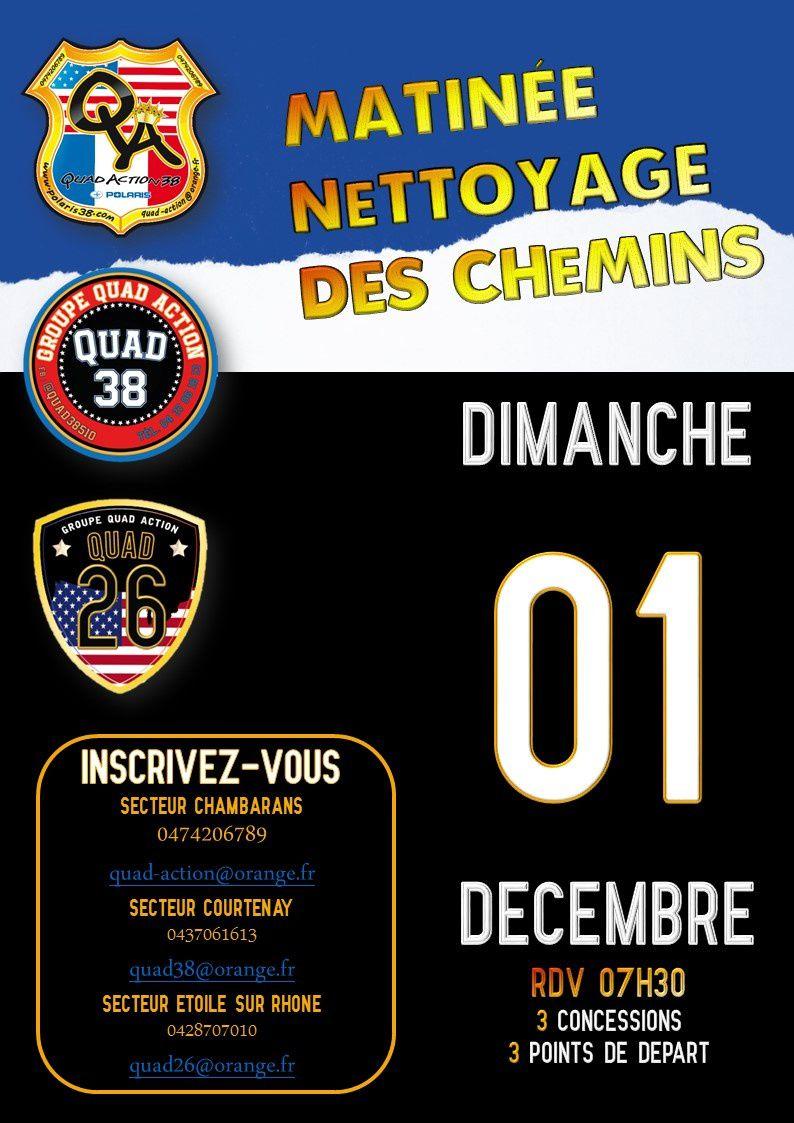 Opération commune de nettoyage des chemins 1er décembre 2019 !