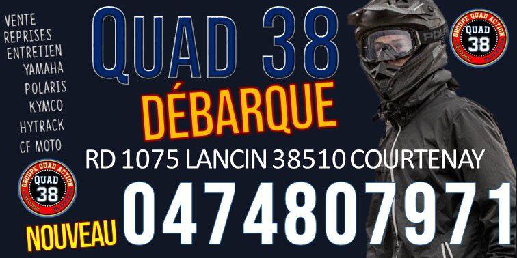 quad38; quad 38; concession quad38 ; rando quad isere; concession ymaah, concession polaris , oncession kymco