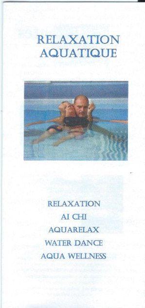Séance de relaxation aquatique le samedi 20 juin avec Eugenio