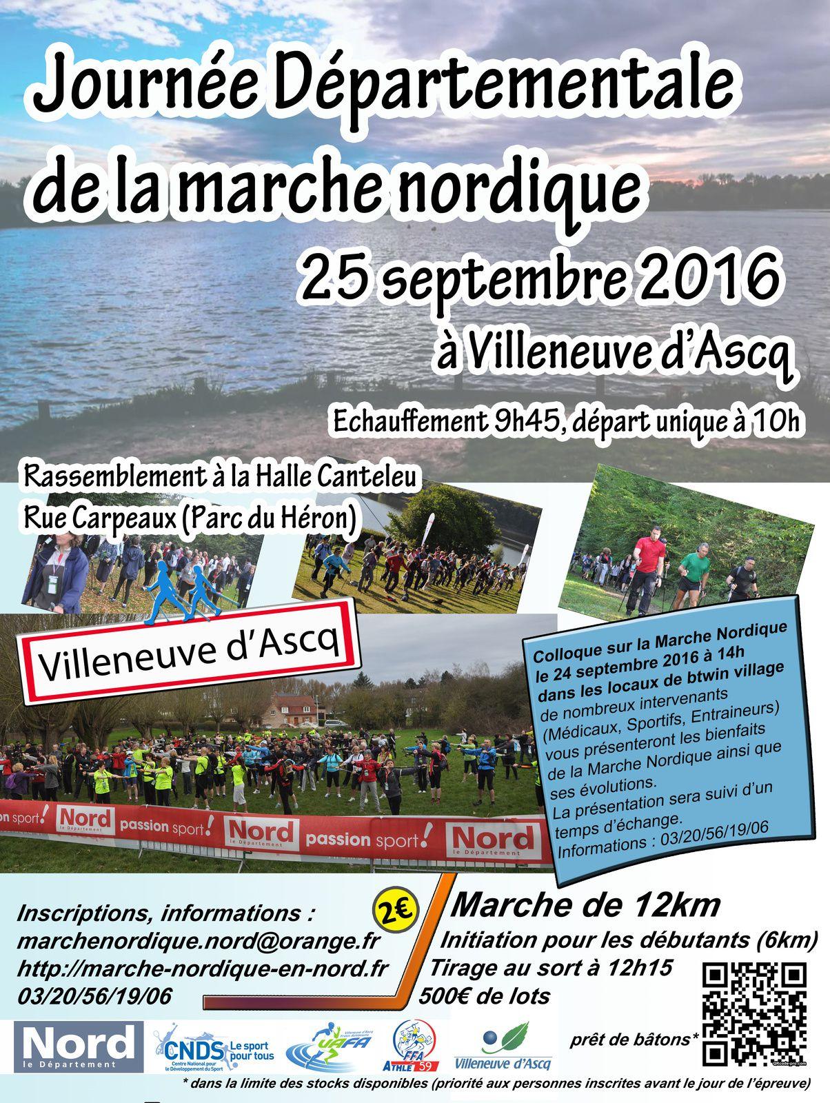 Journée départementale de la MN à Villeneuve d'Ascq le dimanche 25 septembre