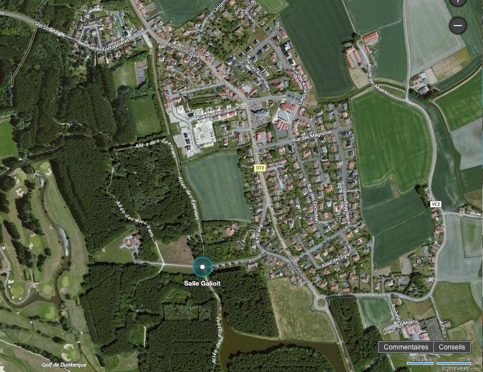 photo satellite allée relais des forts Coudekerque village