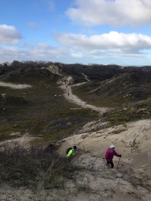 Sortie sportive dans la dune Dewulf ....