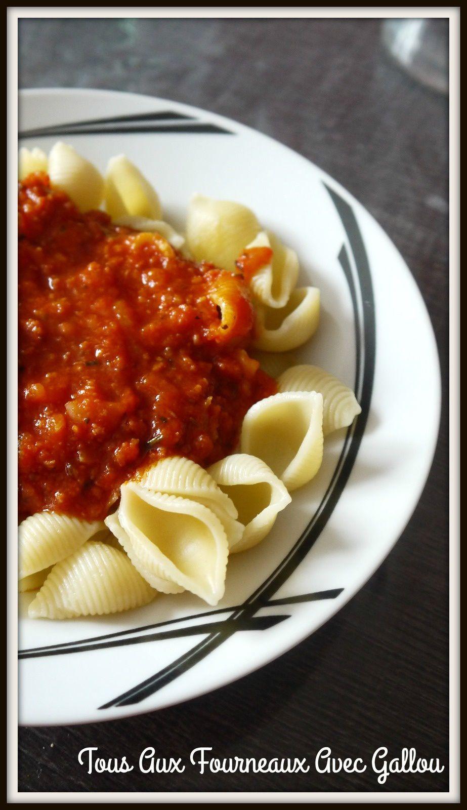 Pates à la sauce tomate, jambon et chorizo (Thermomix)