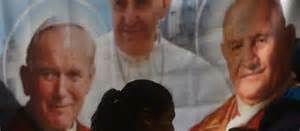 François canonise les deux papes
