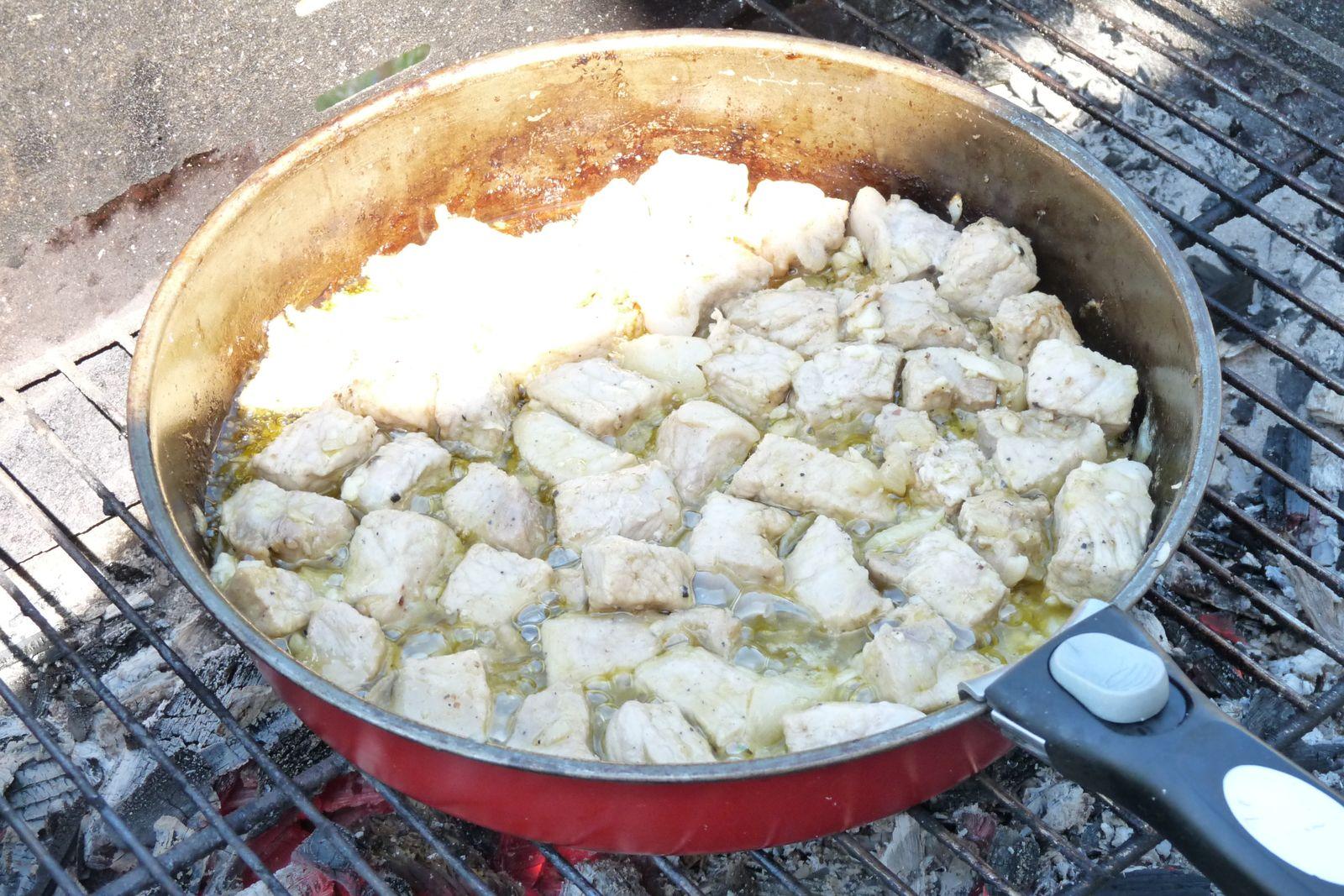 Sauté de porc mariné au barbecue