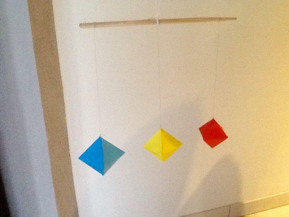 Mobile des octaèdres (Montessori)