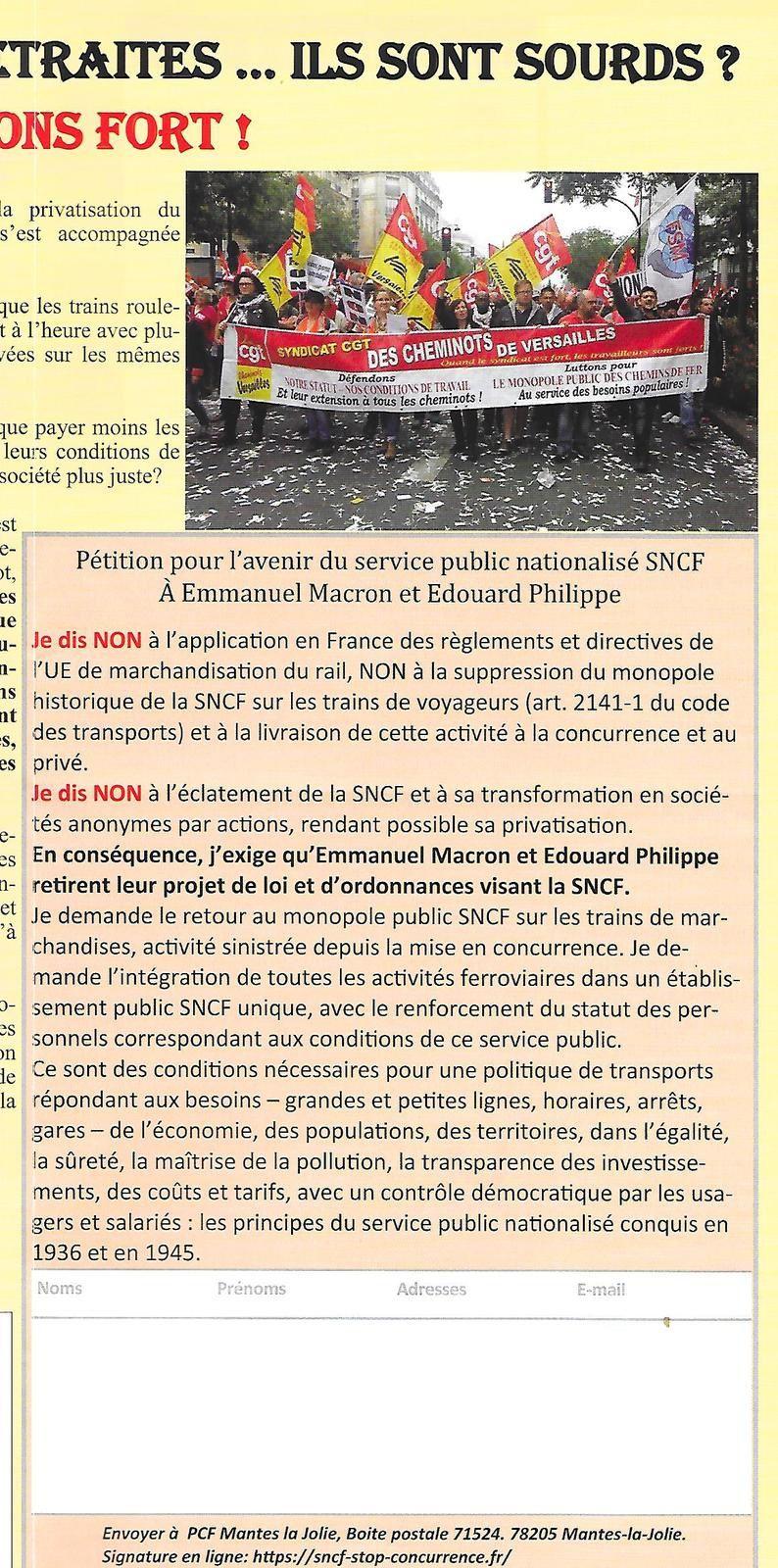 Salaires, SNCF, Santé, retraites ... ils sont sourds? Ripostons fort !