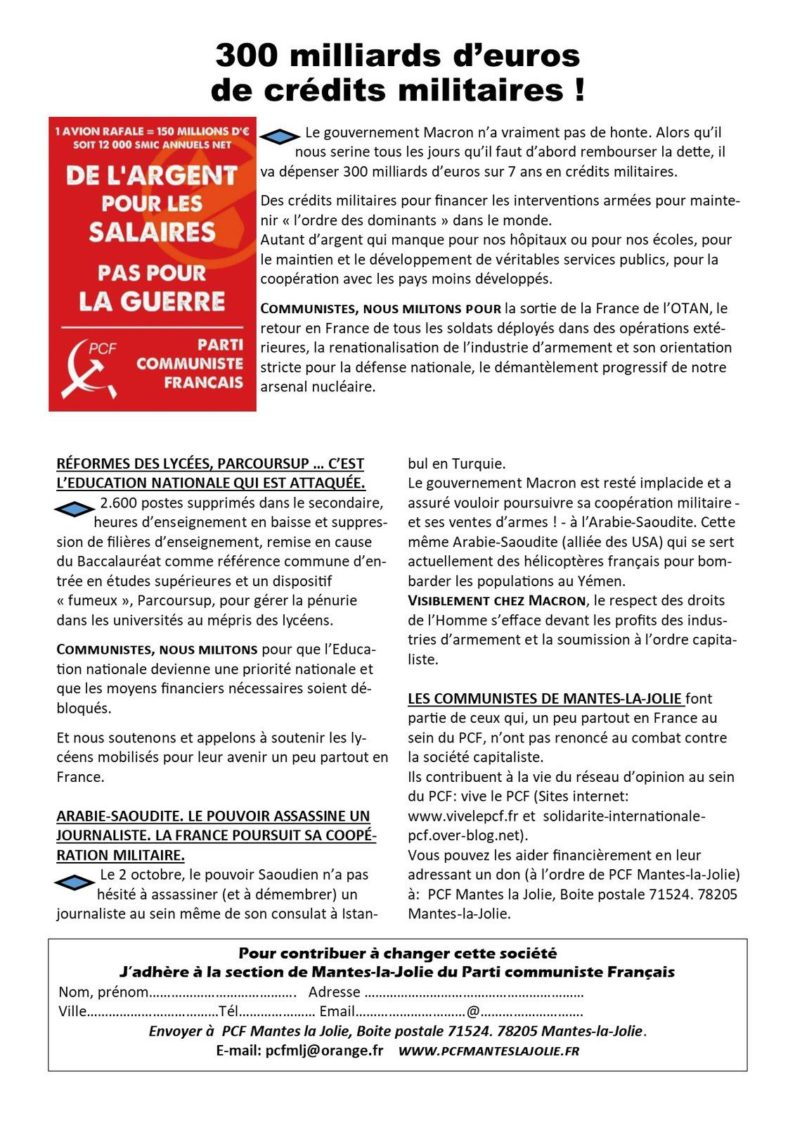 RÉFORMES DES LYCÉES, PARCOURSUP … C'EST L'EDUCATION NATIONALE QUI EST ATTAQUÉE.