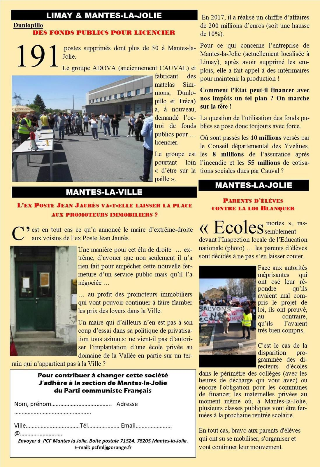 Mantes-la-Jolie. L'opinion des communistes (mai 2019)