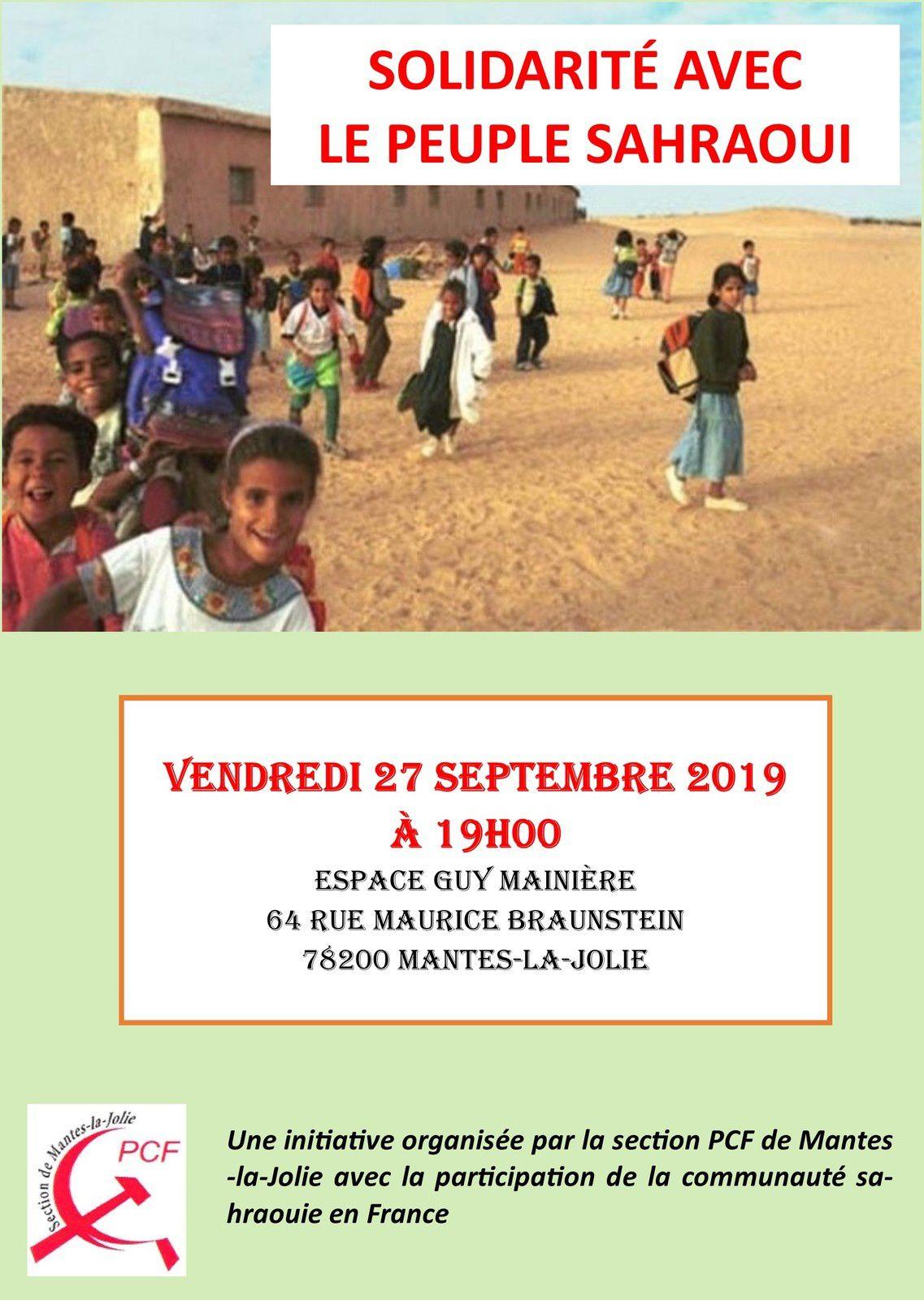 Mantes-la-Jolie. 27 septembre. Solidarité avec le peuple Saharaoui.