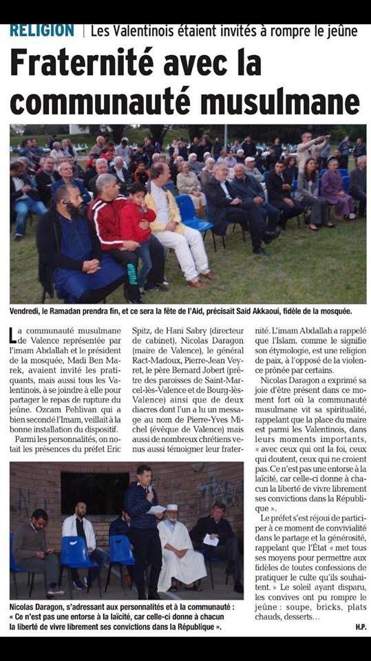 Iftar public à Valence édition 2018