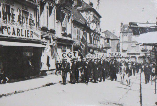 Images d'archives, premier Mai à Méru en 1909 et 1935