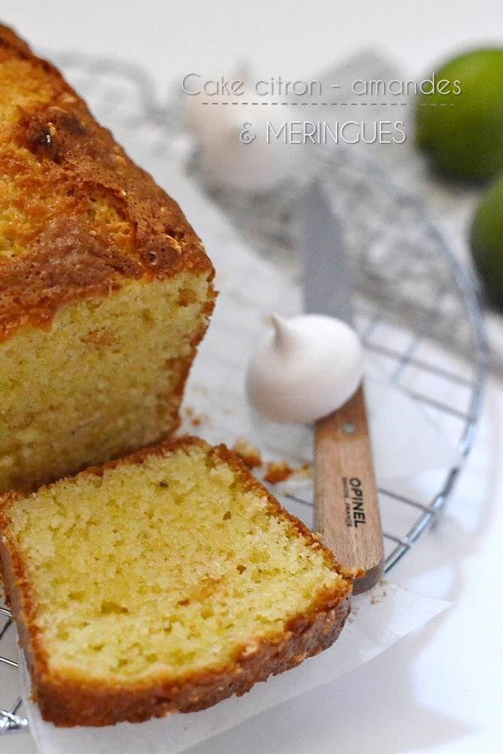 Cake citron, amandes et meringues