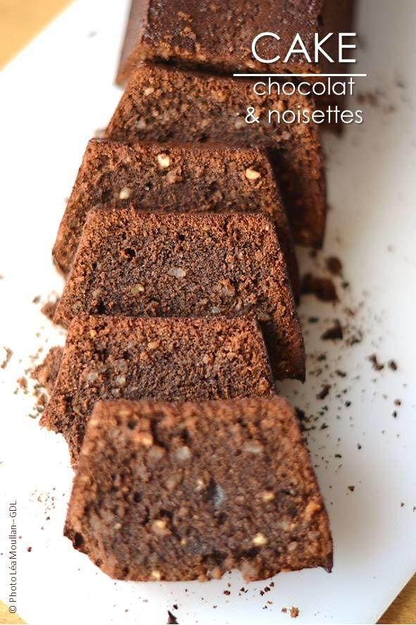 Cake au chocolat et noisettes